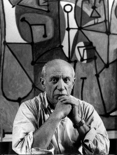 Picasso in Black, White and Gray An exhibit at the Guggenheim in New York spins this article in an intriguing new way. By Sara Evans