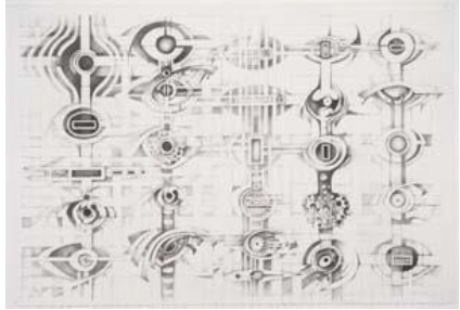 LEE BONTECOU: DRAWN WORLDS  FIRST DRAWINGS RETROSPECTIVE BRINGS A NEW PERSPECTIVE  TO THE WORK OF A CONTEMPORARY AMERICAN ARTIST    On View at the Menil January 31 – May 11, 2014