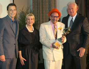 Photograph (left to right) Chairman of the Florida Council on Arts and Culture Glenn Lochrie, State of Florida First Lady Ann Scott, Florida Artists Hall of Fame 2014 inductee Bruce Helander, Florida Secretary of State Ken Detzner.
