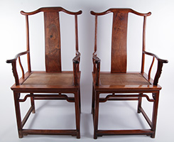 Four Centuries of History Come Alive in a  Rare Pair of 17th Century Chinese Chairs   That Lark Mason Has at Last Brought Together