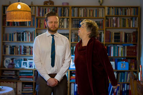 """LUHRING AUGUSTINE, 531 West 24th Street, New York, NY 10011  Tel (212) 206-9100 is proud to present Ragnar Kjartansson with """"Me, My Mother, My Father, and I."""" from May 7 – June 29, 2014 at the NEW M– USEUM in NYC."""