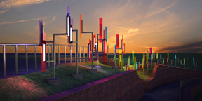 Ivan Toth Depeña Creates New Public Art Installation For West Rail Line's Federal Center Station In Lakewood, Colorado
