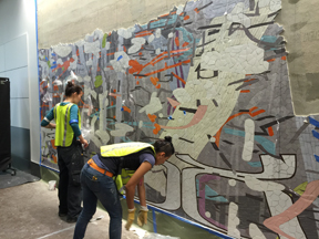 109-FOOT MURAL LANDS AT SFO'S TERMINAL 3 San Francisco artist Amy Ellingson debuts first major public art commission five years in the making