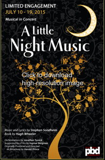 Palm Beach Dramaworks presents Stephen Sondheim and Hugh Wheeler's A Little Night Music In Concert, July 10 – 19