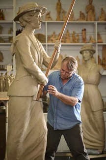 Visit LeQuire Gallery & Studio this summer as sculptor Alan LeQuire works on his latest public art commission, The Tennessee Woman Suffrage Monument.