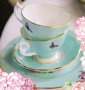 Royal Albert tea cups designed by Miranda Kerr