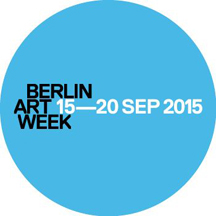 Berlin Art Week 15–20 September 2015