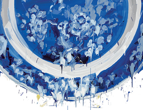 FERRIN CONTEMPORARY presents MY BLUE CHINA Sin-ying Ho & Caroline Slotte thru November 21, 2015