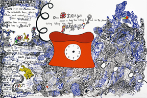 Niki de Saint Phalle. Californian Diary (Telephone), 1994 © 2015 Niki Charitable Art Foundation, All rights reserved. Photo: © Laura Maloney.