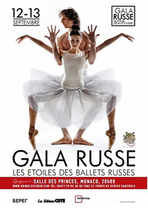 Russia Gala on 12 and 13 September 2015 at the Grimaldi Forum Monaco