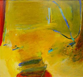 "Emily Mason Myself Be Noon, 2002 Oil On Canvas 39"" x 38"" Copyright © Emily Mason"
