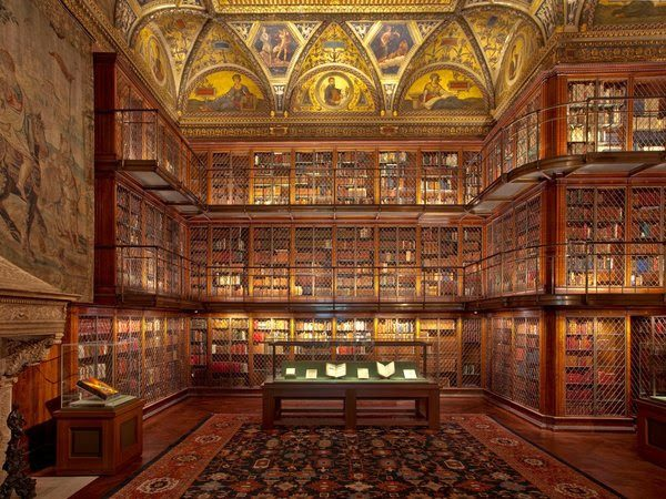 """The Morgan Library & Museum's stunning East Room has been named by the editors of Condé Nast Traveler magazine as one of the """"The 50 Most Beautiful Places in America."""""""
