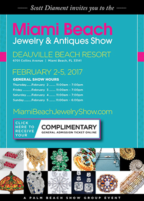 Miami Beach Jewelry & Antique Show February 2-5, 2017