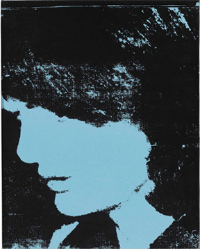 Image Caption: Andy Warhol, Jackie, 1964, Synthetic polymer and silkscreen ink on canvas, 20 x 16 inches