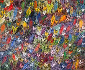 Rosenbaum Contemporary's Boca Raton gallery, 150 Yamato Road, Boca Raton, Fla.  The Birds and the B's Artist Hunt Slonem will remain on view through April 29