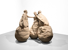 Under the title Conversation Piece, name derived from a sculptural ensemble by Juan Muñoz