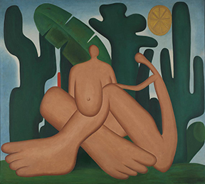 The Museum of Modern Art, New York Announces the First Major U.S. Museum Exhibition of Tarsila do Amaral  With Tarsila do Amaral: Inventing Modern Art in Brazil, The Museum of Modern Art and the Art Institute of Chicago will present the first exhibition in North America exclusively dedicated to the pioneering work of Tarsila do Amaral (Brazilian, 1886–1973), one of the greatest Brazilian artists of the 20th century. On view at The Museum of Modern Art from February 11 through June 3, 2018, the exhibition will focus on Do Amaral's pivotal production from the 1920s, tracing the path of her groundbreaking contributions through approximately 130 works, including paintings, drawings, sketchbooks, and photographs drawn from collections across the United States, Latin America, and Europe. Tarsila do Amaral: Inventing Modern Art in Brazilis organized by The Museum of Modern Art and the Art Institute of Chicago, by Luis Pérez-Oramas, former Estrellita Brodsky Curator of Latin American Art, The Museum of Modern Art, and Stephanie D'Alessandro, former Gary C. and Frances Comer Curator of International Modern Art, the Art Institute of Chicago; with Karen Grimson, Curatorial Assistant, Department of Drawings and Prints, The Museum of Modern Art, and Katja Dominique Rivera, Research Associate, Department of Modern and Contemporary Art, the Art Institute of Chicago. Prior to its presentation at The Museum of Modern Art, the exhibition will be on view at the Art Institute of Chicago from October 8, 2017, through January 7, 2018.   Serving as a long-overdue introduction to this major Brazilian modernist for North American audiences, the exhibition will highlight the artist's production from the 1920s and her critical contributions to the birth of modern art in Brazil. Combining a chronological display with a thematic approach, the exhibition will survey Do Amaral's career, from her earliest Parisian works, to the emblematic modernist paintings produced upon her return to Brazil, ending with her large-scale, socially driven works of the early 1930s. Central to the exhibition is the reunion of three landmark paintings: The Black Woman (A Negra) (1923), Abaporu (1928), and Antropophagy (Antropofagia) (1929), a transformational series of works that were last exhibited jointly in North America in 1993, in the MoMA exhibition Latin American Artists of the Twentieth Century.