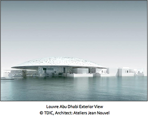 Louvre Abu Dhabi  will open its doors to the public on 11 November 2017. It is the first museum of its kind in the Arab world: a universal museum that focuses on shared human stories across civilisations and cultures.