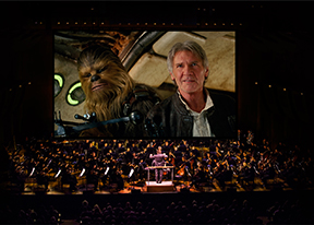 "The Force is with Them!The New York Philharmonic is starting its fall season with a bang, with a dazzling program that combines film and music from ""Star Wars."""