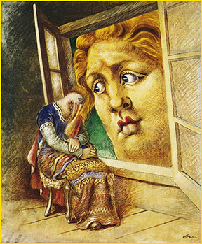 Alberto Savinio, L'annunciazione (The Annunciation), 1932. Private collection. © 2017 Artists Rights Society (ARS) / SIAE, Rome.