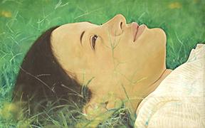 Flavio Garciandía, Ella está en otro día (She is in Another Day), 1975. Oil on canvas. Private collection. © Flavio Garciandía.