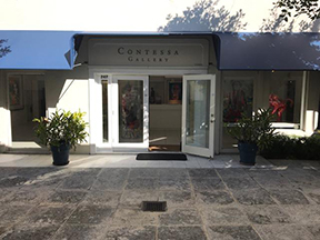 entrance to the Contess Gallery on Worth Avenue in Palm Beach